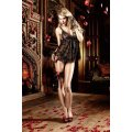 Baci - Lace Babydoll with Floral Pattern