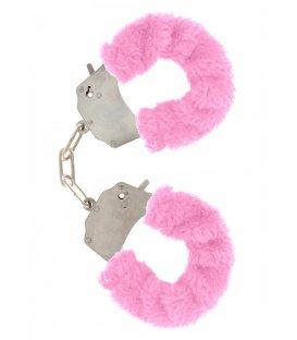 Handbojor med fluff - rosa