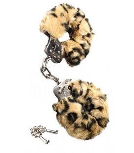 Handbojor med fluff - leopard