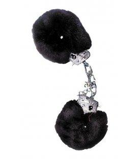 Handbojor med fluff - svart