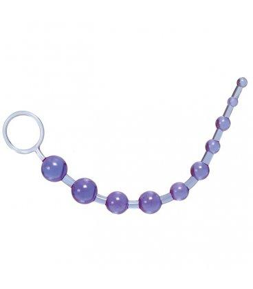 Oriental Jelly Butt Beads - lila