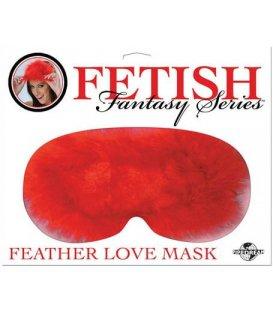 Feather Mask, röd