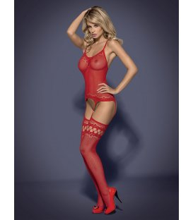 Obsessive - Bodystocking F214, Red